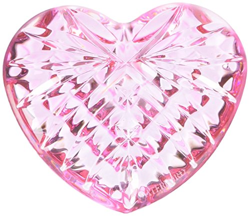 - Waterford Giftology Pink Heart Paperweight