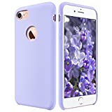 iPhone 7 Case, ULAK Silicone Slim Purple - Flexible Shock Absorbing Liquid Silicone Gel Rubber Shockproof Case Cover with Soft Microfiber Cloth Lining Cushion for Apple iPhone 7 2016 Release