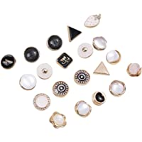 KESYOO 20PCS Shirt Brooch Buttons Alloy Enamel Lapel Pins Brooch Badges Cover Up Buttons Safety Pins Clothes Decorative…
