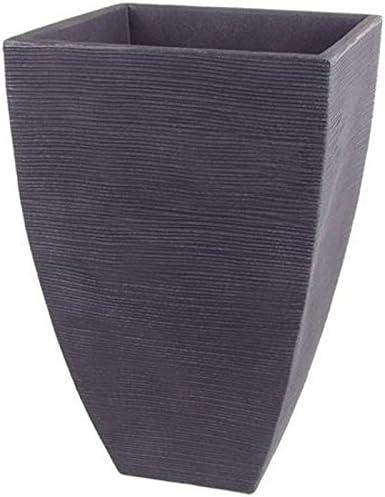 63 l Unbekannt Pflanzgef/ä/ß Mari anthrazit in Rillenoptik 40x40x60 cm F/üllvol