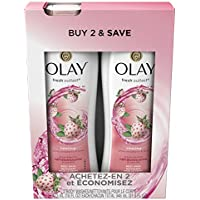 2 Count Olay Fresh Outlast Cooling White Body Wash for Women 31.9 Fl Oz (Strawberry & Mint)