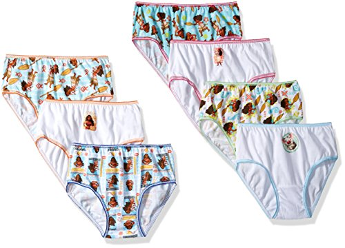 Disney Girls' Little' Moana 7-Pack Panty, asst, 4 ()