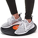 Plastic Balance Board - Wooden Wobble Board Trainer for Exercise, Standing Desk and Physical Therapy - Rotational Exercises Provide A Full Body Fitness Workout Focusing On Core, Legs, Back