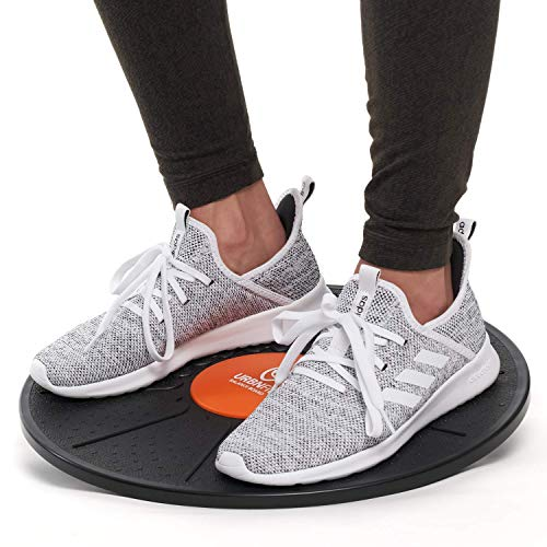 URBNFit Plastic Balance Board - Wobble Board Trainer for Exercise, Standing Desk and Physical Therapy - Rotational Exercises Provide A Full Body Fitness Workout Focusing On Core, Legs, Back