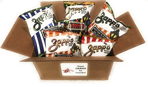 Cajun Potato Chips - Zapps Potato Chips - Voodoo, Spicy Cajun Crawtator, Sour Cream and Creole Onion, Hotter n Hot Jalapeno, Regular- 10 Total, 1.5 oz Bags