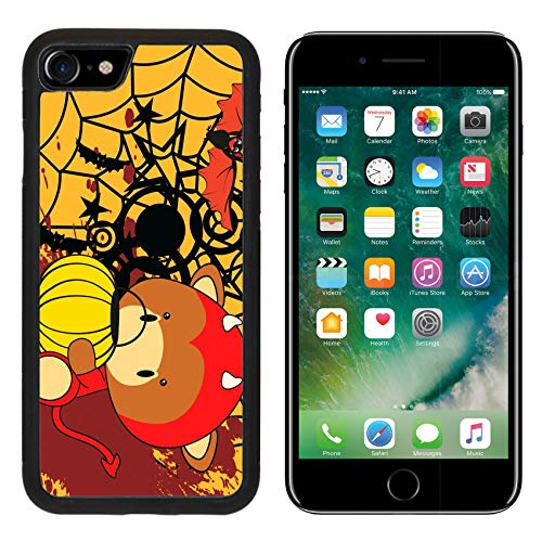 Liili Premium Apple iPhone 8 Aluminum Backplate Bumper Snap Case Bull Baby Cartoon Halloween Costume Background in Vector Format Image ID -