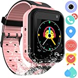 Kids Smart Watch Phone for Boys Girls - Waterproof Smartwatch Phone Touchscreen with Camera Call Voice Chat SOS Flashlight Anti Lost Alarm Clock Game Wrist Watch for Children Birthday