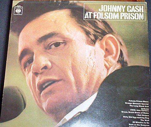 Johnny Cash At Folsom Prison rare 12 inch 33 rpm LP Vinyl Album Record [Audio...