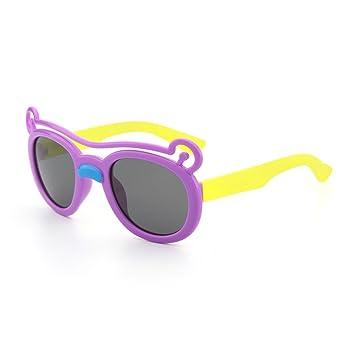 b1b0787b58 Ju-sheng Oso de Dibujos Animados Gafas de Sol Flexibles para niños Marco de  Gel de ...