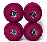 hot Sales Cotton Thread Color 100% Cotton Twine Thread, Crochet Cotton Thread Balls Cotton Crochet Anchor Knitting Thread Tatting Yarn Embroidery Ball (Color No.:817) …