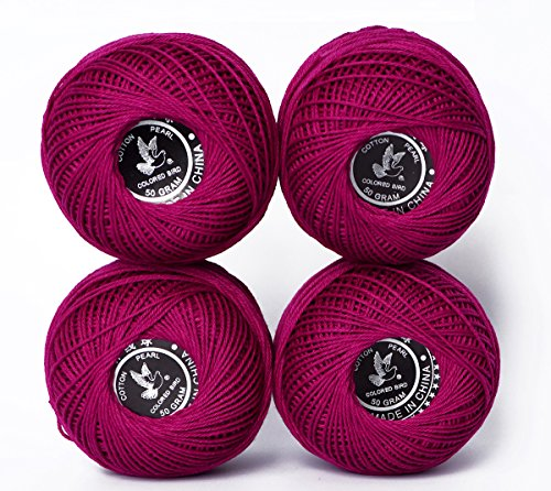 hot Sales Cotton Thread Color 100% Cotton Twine Thread, Crochet Cotton Thread Balls Cotton Crochet Anchor Knitting Thread Tatting Yarn Embroidery Ball (Color No.:817) … by LE PAON