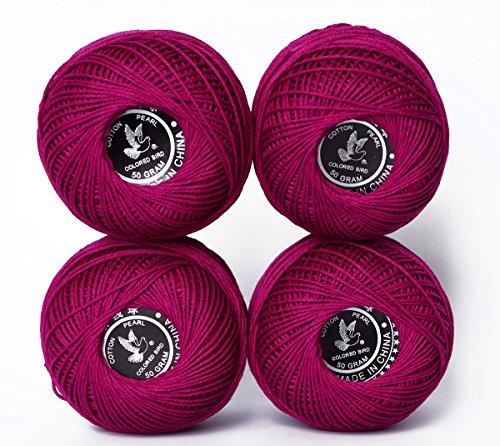 Cotton Yarn Crochet Patterns (hot sales Cotton thread color 100% Cotton twine thread, Crochet Cotton Thread Balls Cotton Crochet Anchor Knitting Thread Tatting Yarn Embroidery Ball (Color 2))