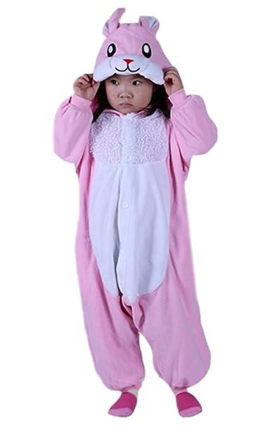 DATO Niños Animal Ropa de Dormir Conejo Cosplay Disfraces Pijamas