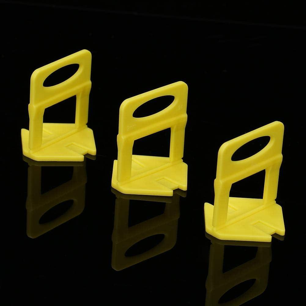 D08 Akozon Fliese Nivellierung clip 100 teile//satz Fliesenkeile Fliese Nivellierung Abstandshalter Clips Bodenbelag Fugenbreite1//1,5//2,0 mm Verlegehilfe 3-20 mm F/ür Boden Leveler System