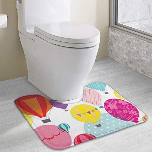 Beauregar Hot Air Balloon Cute Bath Mat Toilet Carpet Doormats Floor Mats for Bathroom Toilet 19.2″x15.7″