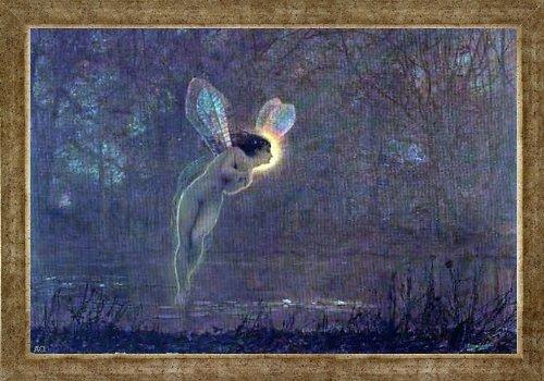 Art Oyster John Atkinson Grimshaw Iris - 16.1