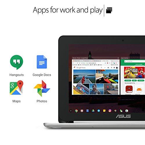 51GYjhFzUdL - ASUS Chromebook Flip C101PA-DB02 10.1inch Rockchip RK3399 Quad-Core Processor 2.0GHz, 4GB Memory,16GB, All Metal Body,Lightweight, USB Type-C, Google Play Store Ready to run Android apps, Touchscreen