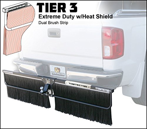 Towtector Tier 3 Mud Flap 27820-T3HS Extreme Duty Dual Brush Strip with Heat Shield - 78