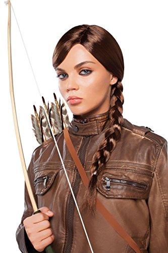 Goddessey Brown Braided Princess Wig Adult (Brown Braided Wig)