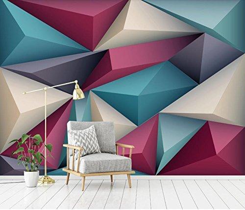 モダンな3D写真の壁紙の Driehoekリビングルームのためのテレビの背景の壁紙寝室の家の装飾 カスタマイズサイズ シルク生地 Wapel 370X240Cm(145.67X94.49 In) B07DFP7WMB 370x240cm(145.67x94.49 in)