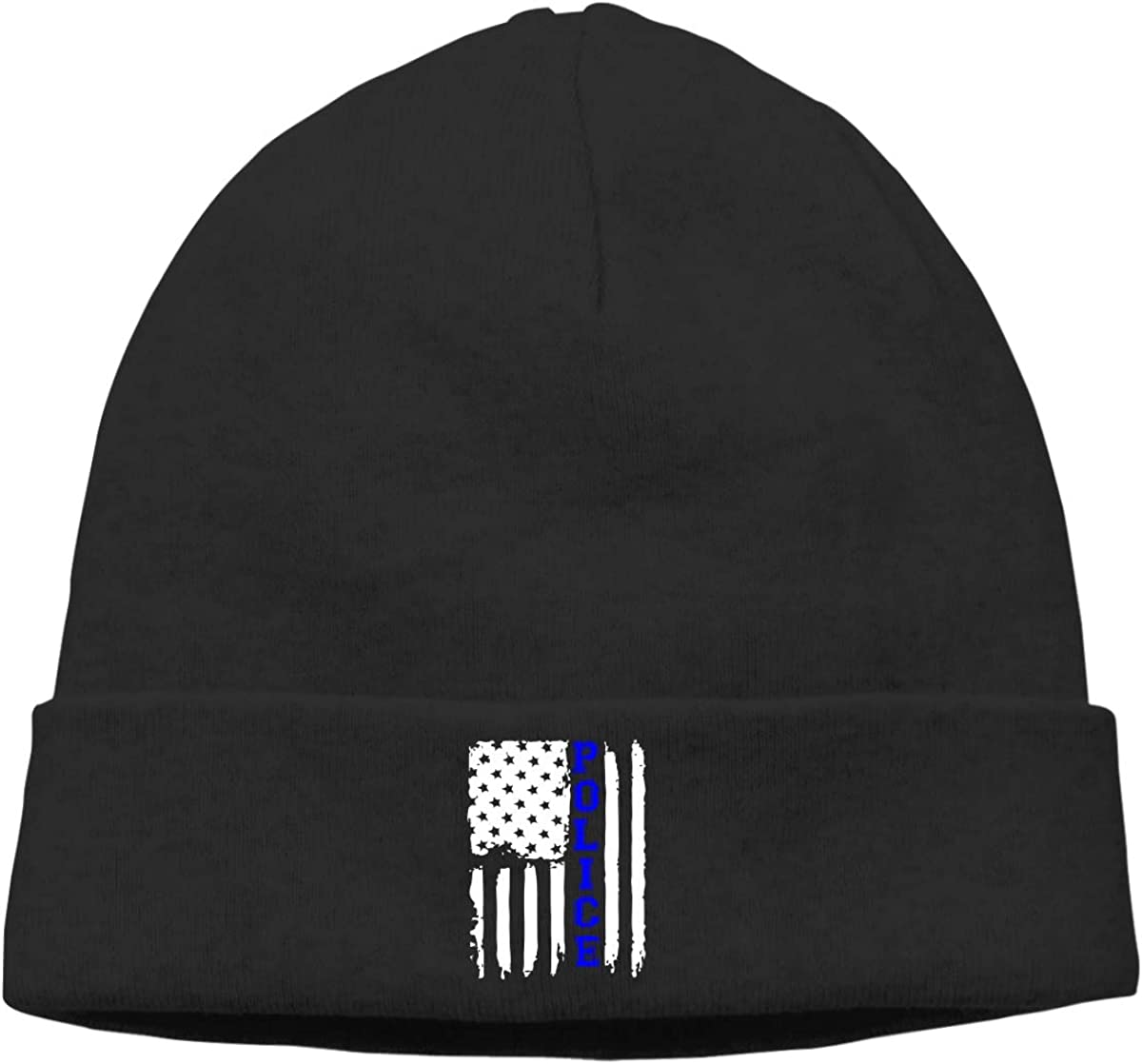 Police Flag Women Men Solid Color Beanie Hat Stretchy /& Soft Winter Cap Thin
