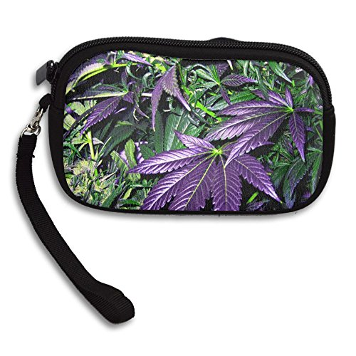 Portable Receiving Small Printing Weed Purple Leaf Deluxe Purse Bag 7wqfU4vB
