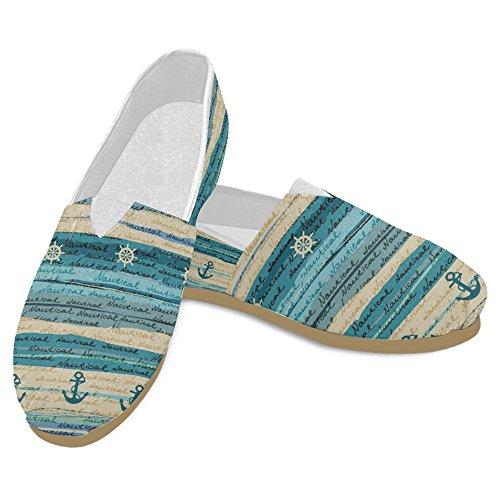 Mocassini Da Donna Di Interestprint Classico Su Tela Casual Slip On Fashion Shoes Sneakers Flat Multi 2