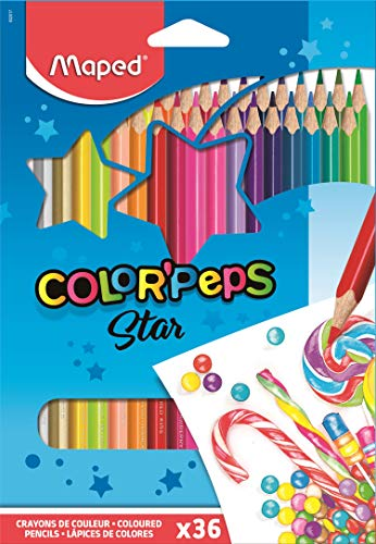 Lápis de Cor Color Peps Caixa x 36, Maped, Multicor