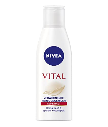 Nivea Visage Reinigungsmilch Vital/reinigt sanft y pflegt/Aguacate-ol Seidenproteine/spendet