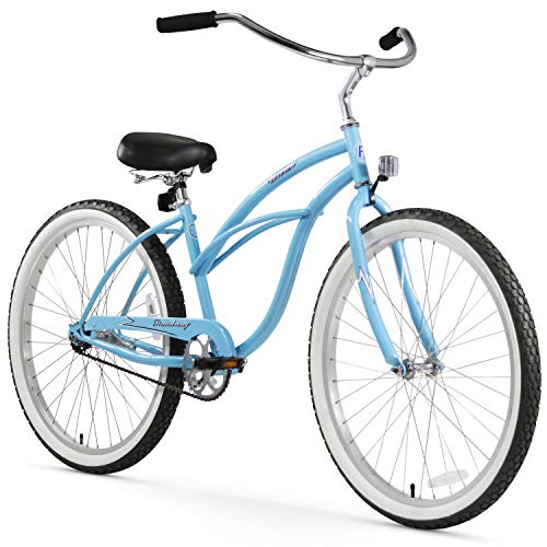 "Firmstrong Urban Lady Single Speed - Women's 26"" Beach Cruiser Bike (Baby Blue)"