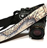 Vintage Map Camera Strap. Photo camera Accessories. SLR, DSLR Camera Strap. Gift For Photographer; 046
