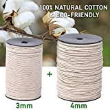 TWO Macrame Cord Rolls in 3mm and 4mm x 220 Yards