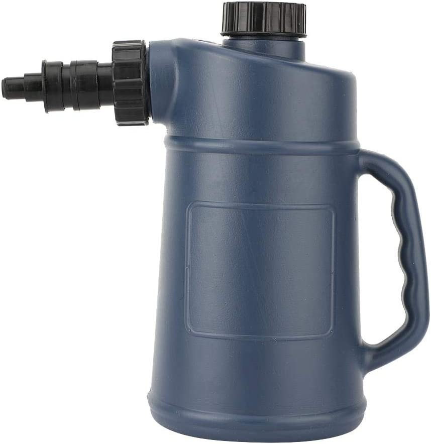 Estink Battery Water Bottle 2 Quart Battery Water Filling with Automatic Shut Off Plastic Battery Acid Filler Jug Double Action Fast Flowing Valve Tip Bottle
