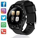 iphone 2g battery - MarMoon Sport Watch for Men Women Touchscreen Fitness Tracker Smartwatch SIM Card with Pedometer Health Tracking Sedentary Reminder Sleep Monitor Anti-lost Fathers Day Gift for Android IOS (Black)