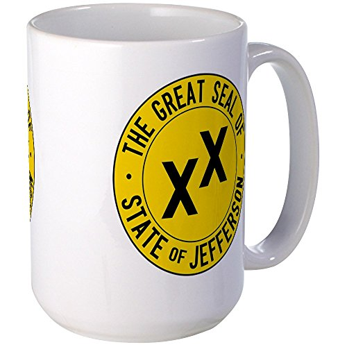 Jefferson Cup - CafePress - State Of Jefferson Flag Large Mug - Coffee Mug, Large 15 oz. White Coffee Cup
