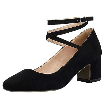 05f39ece546 Amazon.com | Kaizi Karzi Women Elegant Heels Court Shoes Ankle Wrap ...