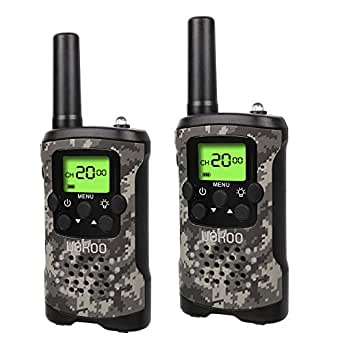 Kids Walkie Talkies, UOKOO Walkie Talkies for Kids 22 Channel FRS/GMRS Two Way Radio Up to 3KM UHF Handheld Walkie Talkies, Toys for 5-year old Boys, Gifts for 7-year Old Boys and Girls