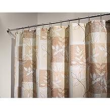 "InterDesign Vivo Botanical Fabric Shower Curtain - 72"" x 72"", Brown/Tan"