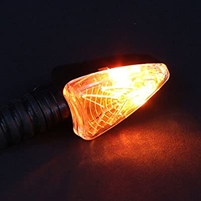 Bompa 2pcs LED Turn Signal Lights Motorcycle Indicators Blinker Amber Light Universal 12V for Harley Honda Yamaha Suzuki (Turn Signal Lights E): Automotive