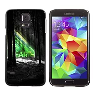 Licase Hard Protective Case Skin Cover for Samsung Galaxy S5 - Beautiful EARTH Forrest Illustration