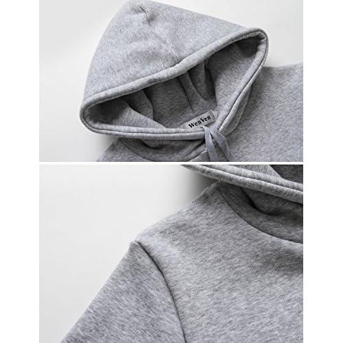 754a173552c 85%OFF WenVen Womens Plus-Size Long Sleeve Pullover Fleece Hoodie  Sweatshirt Dress