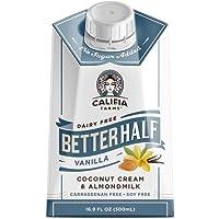 Califia Farms - Vanilla Better Half Coffee Creamer, 16.9 Oz (Pack of 6) | Half and Half | Coconut Cream and Almond Milk…