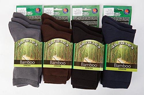 Womens Rayon from Bamboo 3PK Crew Socks (5-9 Shoe)