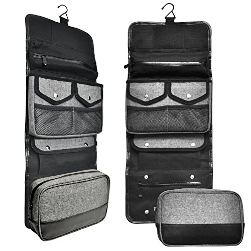 ... Hanging Toiletry Bag By Tailored Supply Co. Travel Kit Organizer Case  with Removable TSA best ... 6ba8608afea5b