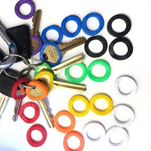 colorati Taglia libera Tappi per chiavi copritavola flessibile per identificare facilmente le chiavi della porta Random Color-24pcs 20//24//32 pezzi QLING