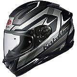 オージーケーカブト(OGK KABUTO)バイクヘルメット フルフェイス AEROBLADE5 RUSH(ラッシュ) フラットブラックシルバー 570446 S (頭囲 55cm~56cm)