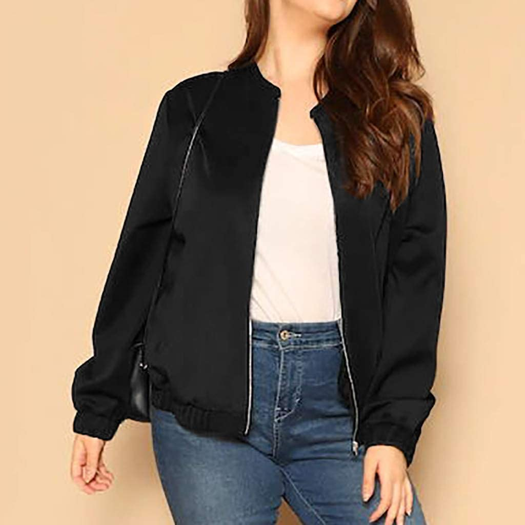 Womens Jacket Coat Vovotrade Ladies Retro Floral Zipper Up Bomber Jacket Casual Basic Outwear Tops