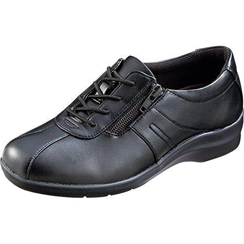 魔法の靴(=GPSインソールシューズ)  gps端末を持たずにもたせる EVE195 (21.5, ブラック) B06XXYGS9J 21.5 ブラック ブラック 21.5