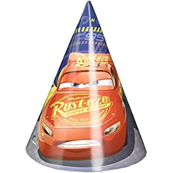 American Greetings FBA_251763 Cars 3 Party Hats, 8-Count, Cone Hats