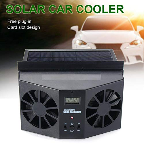 NZNNXN Solar Powered Car Window Fan Solar Car Extractor Fan Vehicle Radiator Fan Car Fan System:
